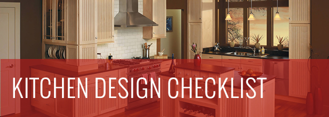 KItchen Design Checklist